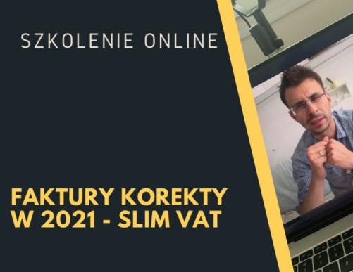 Faktury korekty w 2021 – SLIM VAT